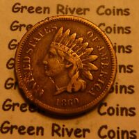1860 Copper Nickel  Indian Head Penny Cent  Coin  #60-3