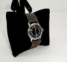 Vintage Wwii Elgin A-11 Military Hack 539 16J Wristwatch,Orig Canvas Band,Runs