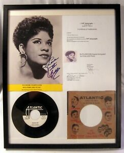 Ruth Brown Framed Collage Signed Photo & 45Rpm Record Show Me ~ Promo