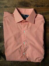 Polo Ralph Lauren Mens Dress Shirt-Size 16 1 2 x 35-Orange 57dde71e1093