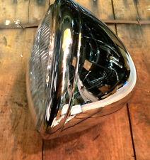 """6.5"""" CHROME HEADLIGHT HEADLAMP ASSEMBLY SPRINGER 12v HARLEY CHOPPER BOBBER"""