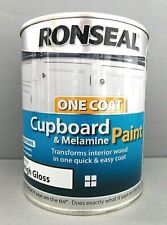 Ronseal Rsloccmpw750 One Coat Cupboard Melamine & MDF White 750ml