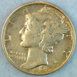 CIRCULATED 1945 P Silver Mercury Dime 90% Silver Fast Shipping 429