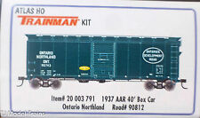 Atlas HO #20003791 (Rd #90812) (Trainman 1937 AAR 40' Boxcar Kit) Ontario Northl