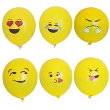 PACK 12 BALLONS EMOJI SMILEY VISAGE  ANNIVERSAIRE/ENFANT/DECORATION/FETE
