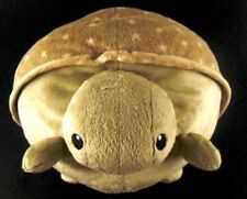 Cloud B large Pale Green TURTLE Pillow Embroidered Eyes Baby Nursery Toy Plush