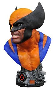 🚨💥 MARVEL LEGENDS IN 3D WOLVERINE 1/2 SCALE BUST 723 of 1000 LTD 10""