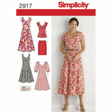 Simplicity Sewing Pattern 2917 Womens 20W - 28W Dress Tunic Skirt Top with Belt