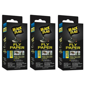 3 Pack Black Flag Window Fly Trap Catches All Flying Insects 4 Traps Each