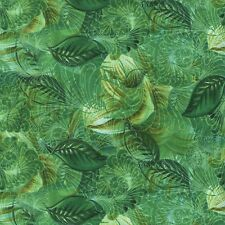 Green Helebore Leaf Fabric by Judy Niemeyer for Timeless Treasures