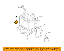 HYUNDAI OEM 01-11 Accent 1.6L-L4-Battery Hold Down Tie Bracket Clamp 3716022000