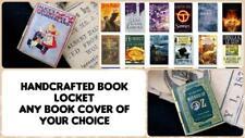 Book Cover Photo LOCKET Necklace Pendant Steampunk Fairy Oz Potter Pet Fairy New