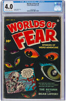 Worlds of Fear #4 CGC 4.0 Off White to White, Moldoff Pre Code Horror PCH Zombie
