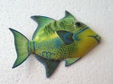 Tropical Fish Wall Plaque Tiki Bar Beach Pool Nautical Decor Size 6 in TFW01