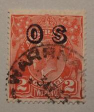 AUSTRALIA 2d Red KGV OS Overprint WARRNAMBOOL Postmark C of A Wk SG 0130 ASC 123