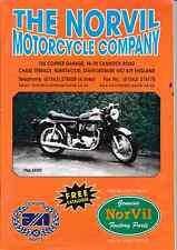 Norton Motorcycles. Norvil Motorcycle Company 2001 Spares Catalogue
