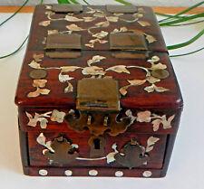 Antique Korean Wooden Box - Handmade Mirror Box – Makeup Box – Wood Vanity Box