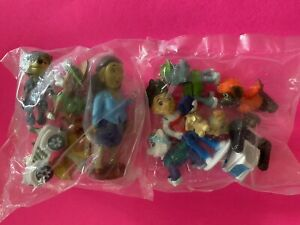 Preowned miniature lot people and pets. Boy With 4 dogs,Girl With 4 dogs. Sealed
