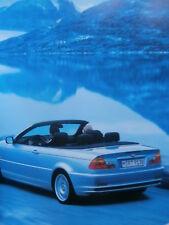 BMW 323Ci E46 Cabrio Prospekt Brochure Catalogue Katalog März 2000 NEU