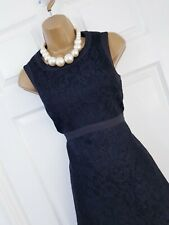 Stunning Coast Black Lace Tailored Occasion Cocktail Dress Size 10 Wedding Event