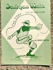 BASEBALL sheet music SOUTHPAW Mark Nevin UNUSUAL 1971 Bass Clef only teaching