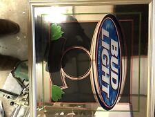 bud light mirror sign