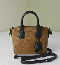 Michael Kors Walnut Brown Pebble Leather Campbell XS Satchel Crossbody