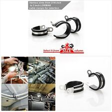 New listing Lokman 20 Pack 1 Inch Stainless Steel Cable Clamp, Rubber Cushioned Insulated Cl