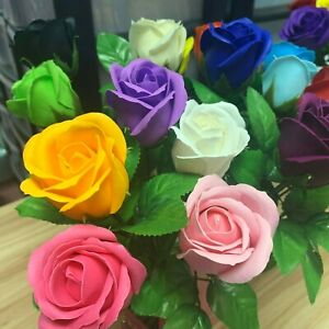 X2 ROSES SOAP Gift Present Woman Luxury Rose Bath Soaps Flower Petal UK SELLER