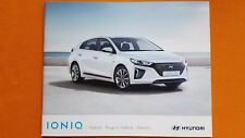 HYUNDAI ioniq Hybrid se Premium vendita Brochure Catalogo Luglio 2017 Nuovo di zecca
