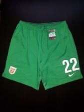Men's Nike England Goalkeeper Shorts Football Soccer Green Size XL Number  22