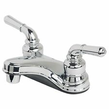 "RV/Mobile Home Bathroom Vanity Sink 4"" Centerset Lavatory Faucet Chrome Finish"