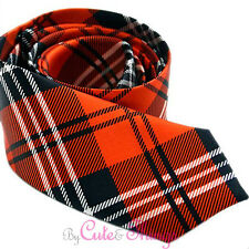 """Black Red Plaid Fashion  Necktie 3"""" Tie Men's Necktie Checker Plaid"""