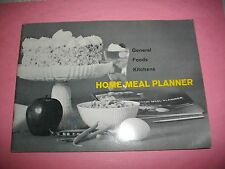 GENERAL FOODS KITCHENS HOME MEAL PLANNER~COPYRIGHT 1961