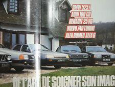revue ALFA 6/ AUDI 100 RENAULT 25 V6/ BMW 525i /VOLVO 740/ 1984 AUTO-HEBDO