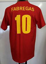 Spagna FABREGAS 10 MONDIALE ed euro Champions T-Shirt Adulti Taglia XL Nuovo di Zecca