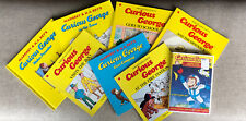 Lot of Seven Children's Paperback Books Curious George And One DVD