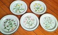 Vintage Japan Speckled Stoneware Daisy, Buttercup, Clover, Dandelion,Pink Plate