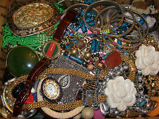 12+ lbs HUGE LOT RETRO & MOD JEWELRY JUNK DRAWER CRAFT HARVEST PARTS WEARABLE