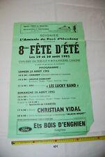 AF1 Ancienne affiche - Fête d'été - Soignies - 1992