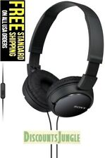 Sony MDR-ZX110AP ZX Series Extra Bass Smartphone Headset with Mic - BLACK- NEW -