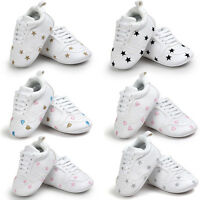 Toddler Newborn Baby Boy Girl Soft Sole Shoes Leather Sneakers Pram Trainers AU