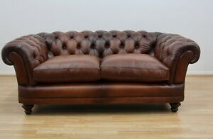 John Lewis New Chatsworth Chesterfield Large Sofa, Antiqued Leather