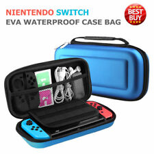 BLUE-Hard Carry Case Protective Cover With (HANDLE) For Nintendo SWITCH Console