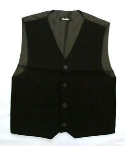 Baby Kids Boys Wedding Occasional Black Formal Smart Waistcoat 0-3 Months 14 Yrs