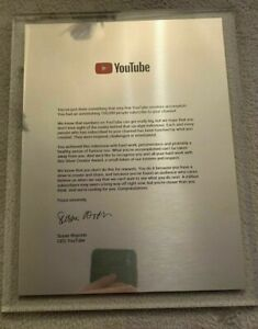 Real YouTube Silver Metal Letter (Additional To The Silver YouTube Play Button)