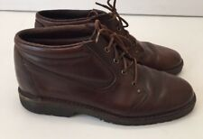 E T Wright Brown Leather Boot Lace Up Oxford 9d Comfort Boot Shoe USA