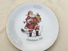 Vintage Authentic German Porcelain Christmas 1976 Antique Plate