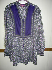 WOMAN WITHIN NWOT size M 14 16 Top Blouse Shirt long sleeve button down