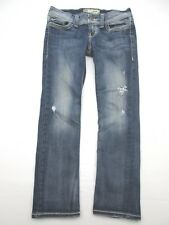 Bke J015 Size 27 Women's Blue Stretchy 95% Cotton Casual Distressed Jeans